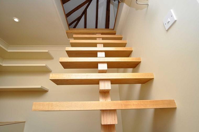 bonito diseño escaleras madera modernas