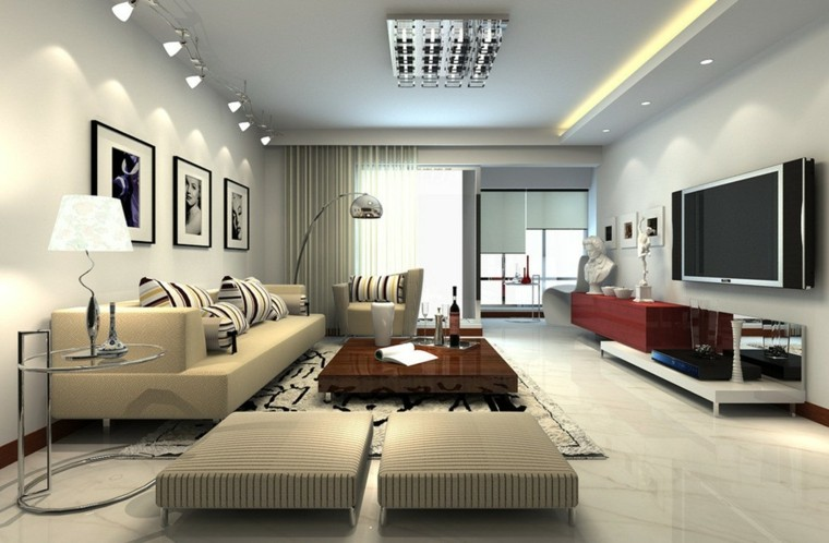 bonito diseño salón estilo minimalista