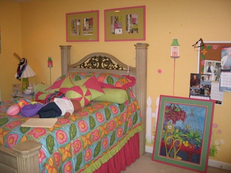 bonito diseño dormitorio muchos colores