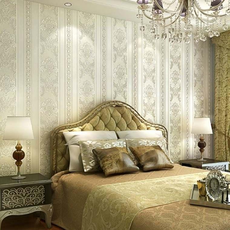 bonito diseño cama retro dorada