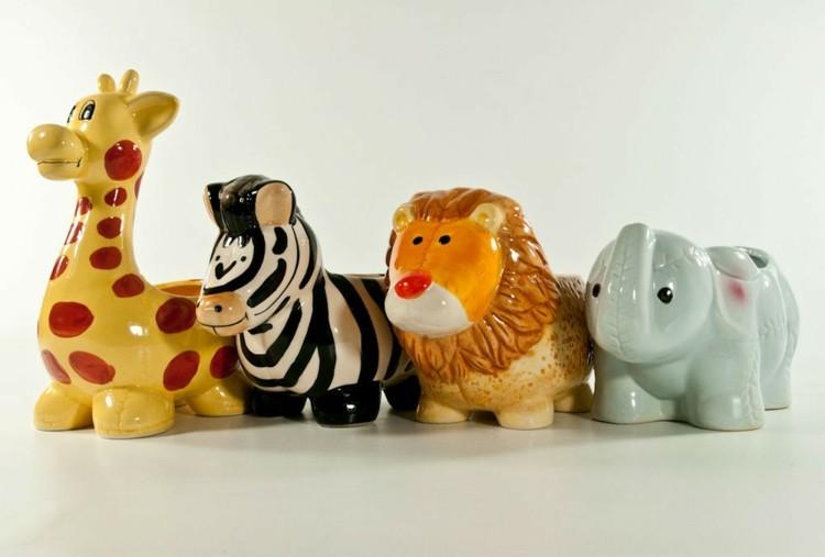 bonitos maceteros formas animales ceramica