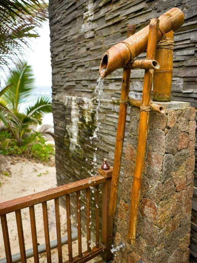 cañas bambu ducha exotica