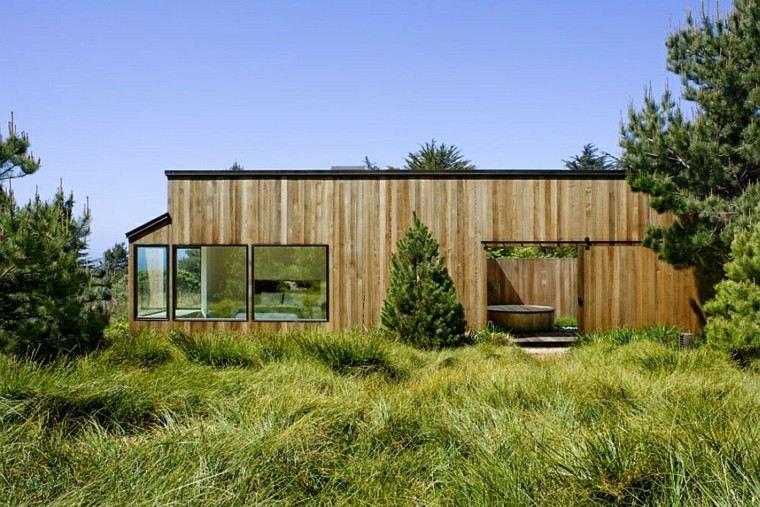 cabaña rustica madera estilo minimalista