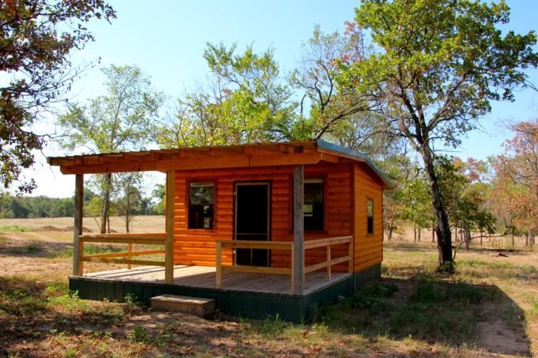 cabaña madera pino natural campo