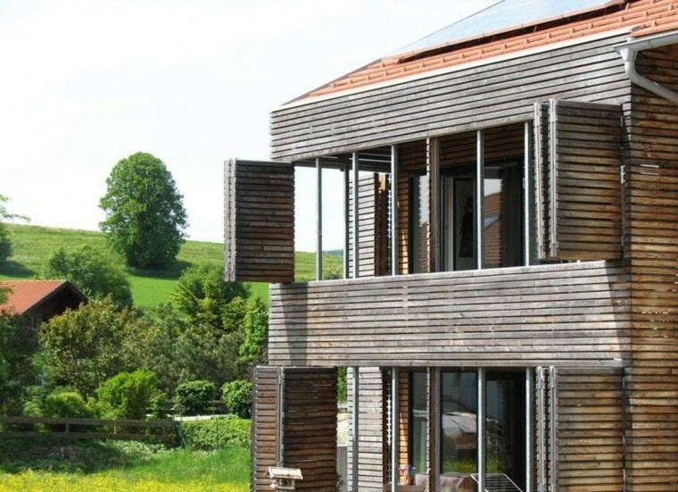 cabaña rustica moderna fachada madera