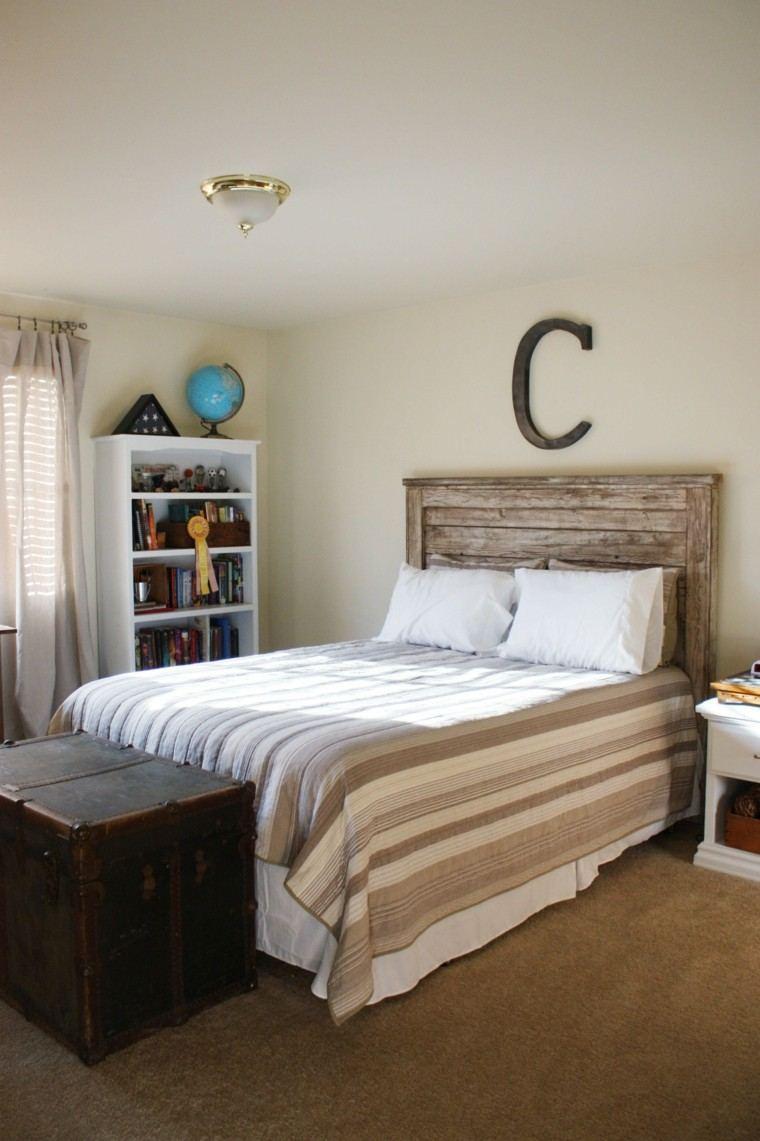 cabecero cama hecho pallet madera