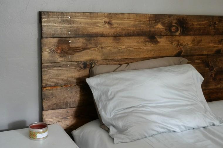 diseño cabecero rustico pallets madera