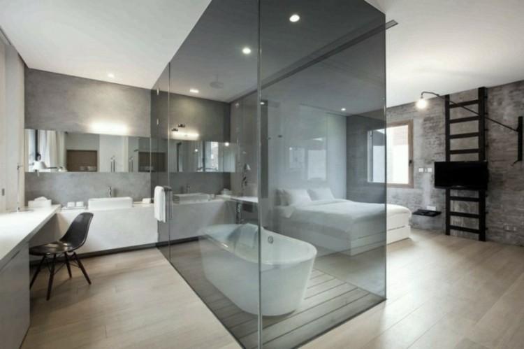 cabina cristal negro bañera acuario