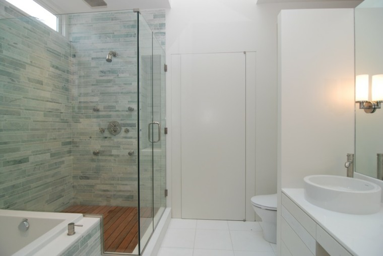 cabina ducha azulejos color celeste
