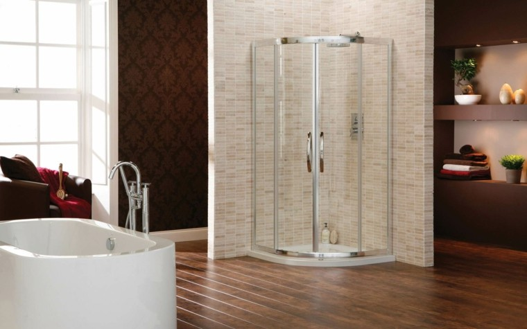 cabina ducha moderna forma esquina