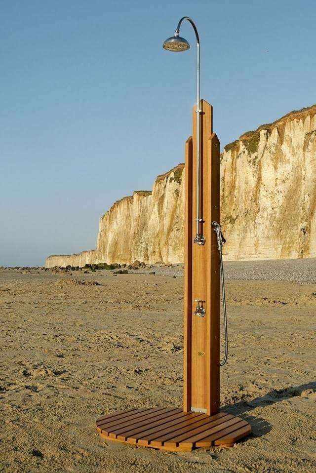 cabina plato ducha playa madera