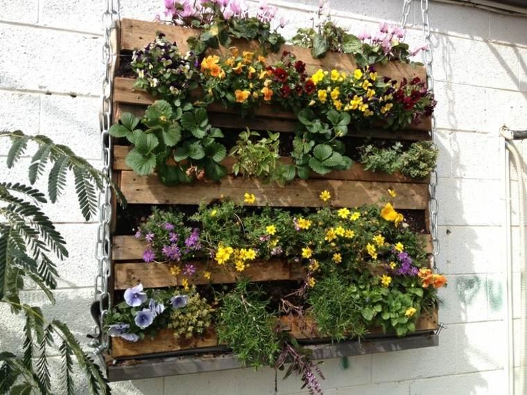 cadena palet jardin vertical diy