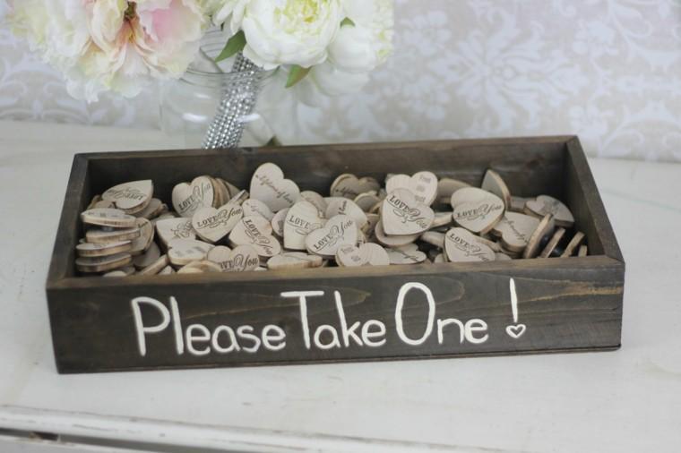caja madera corazones amor love