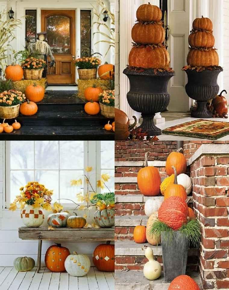 calabazas decoraciones otono distintos lugares casa ideas