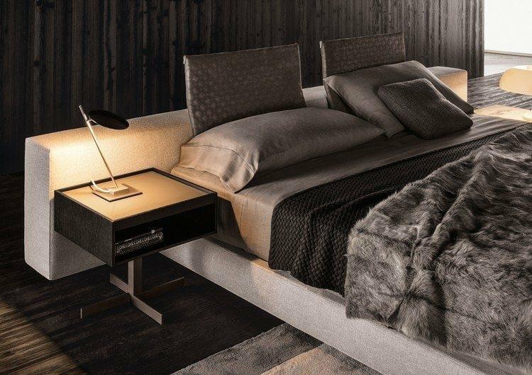 cama grande color gris diseño