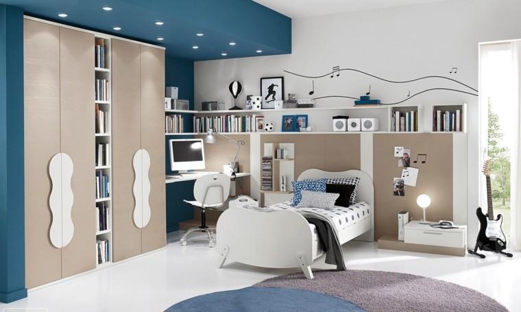 cama muebles madera escritorio amplio ideas