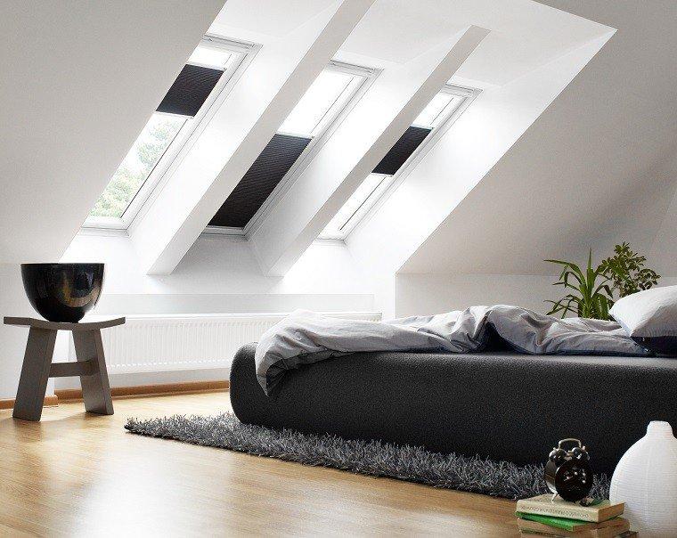 cama negra suelo dormitorio moderno ideas cestos de distintos tamaos para decorar