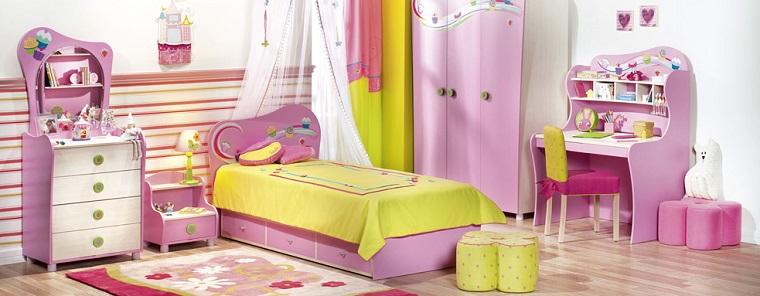 cama rosa dosel mesilla noche preciosa habitacion chica ideas