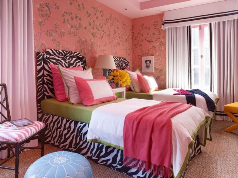 cama zebra diseño moderno cabecero
