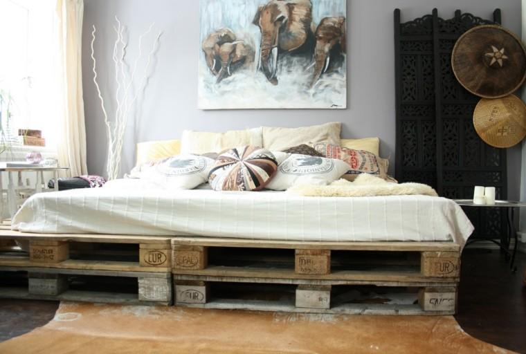 estupenda cama moderna palets madera