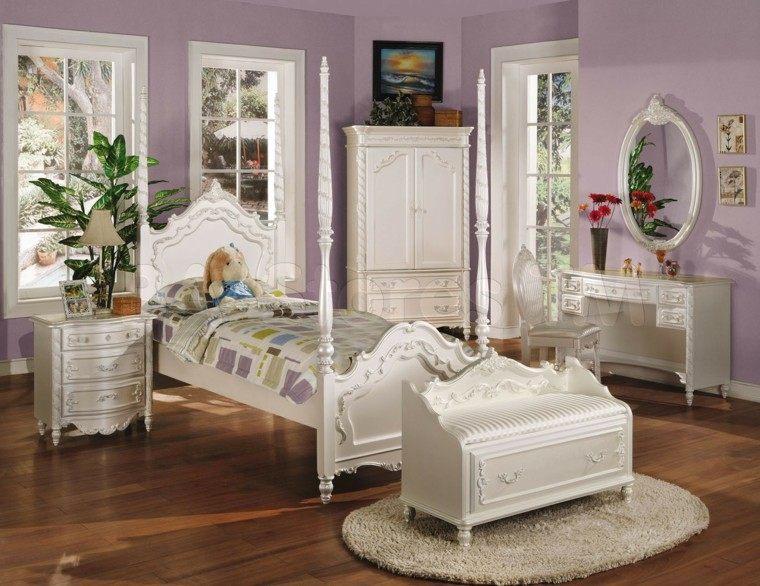 cama dosel diseño vintage