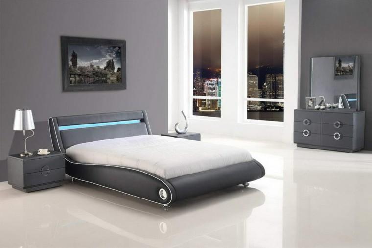carta de color cama futurista cuero