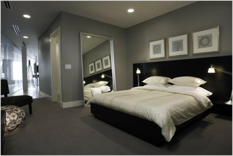 Carta de color 50 tentadoras habitaciones en gris - Color paredes habitacion ...