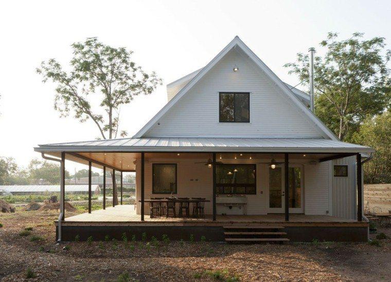 casa rural americana porche madera
