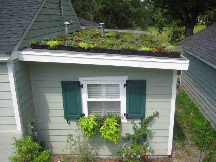 casa blanca jardin tejado plantas
