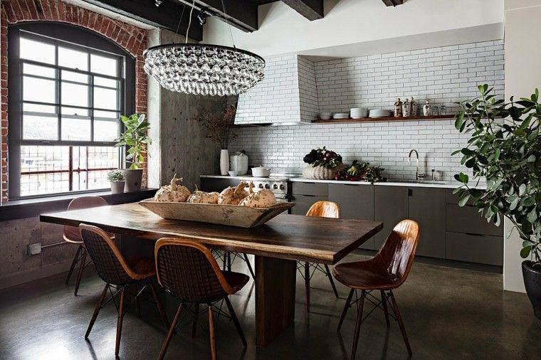 casa decoracion madera mesa cocina