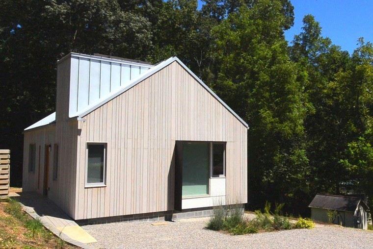 casa forma establo diseño moderno