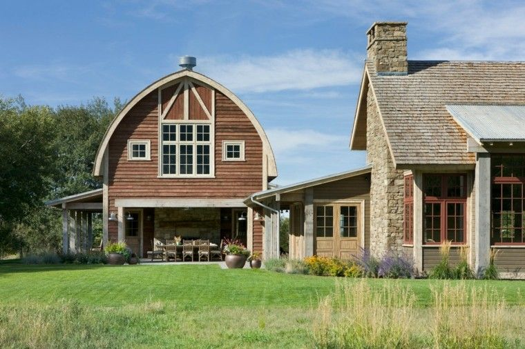 Fachadas de casas rusticas cincuenta dise os con encanto for Farmhouse style homes for sale