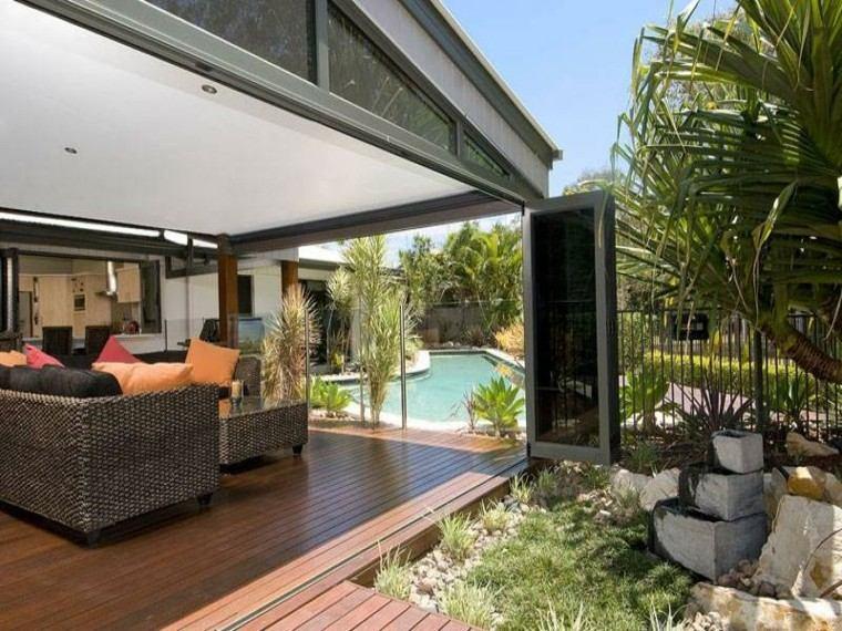casa moderna diseño cojines patio