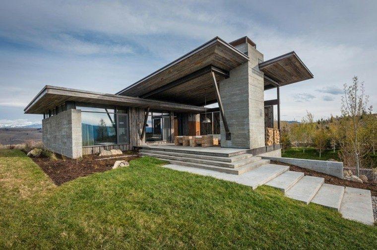 casa moderna diseño hormigon madera