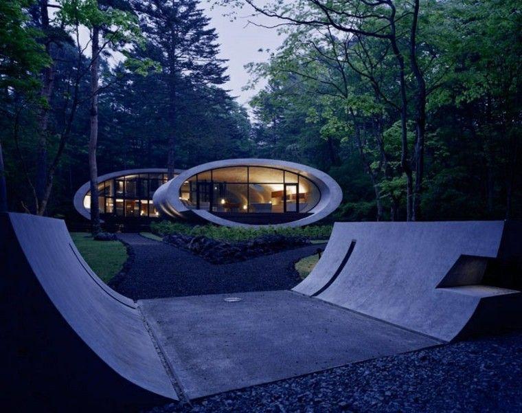 casa moderna jardin estilo japones minimalista amplio ideas
