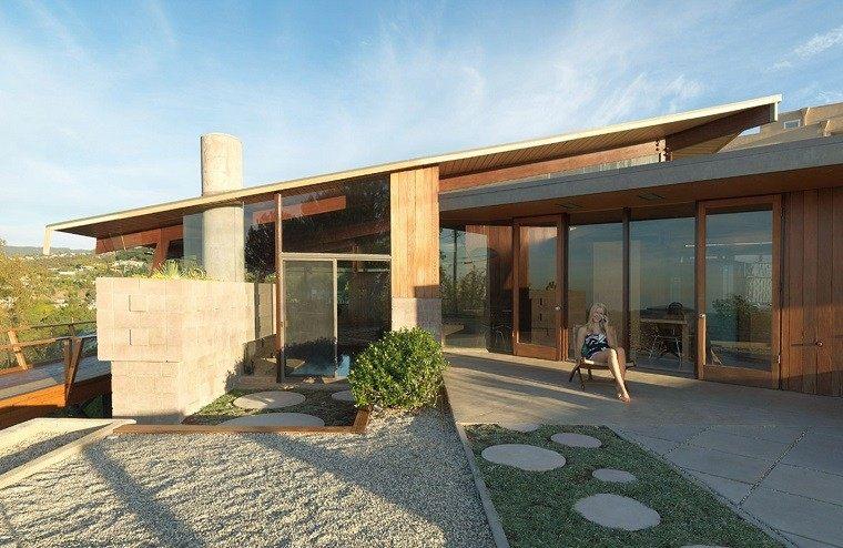 Casa de campo el estilo contempor neo m s natural for Tejados de madera modernos