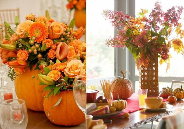 cebtros mesa decorados calabazas