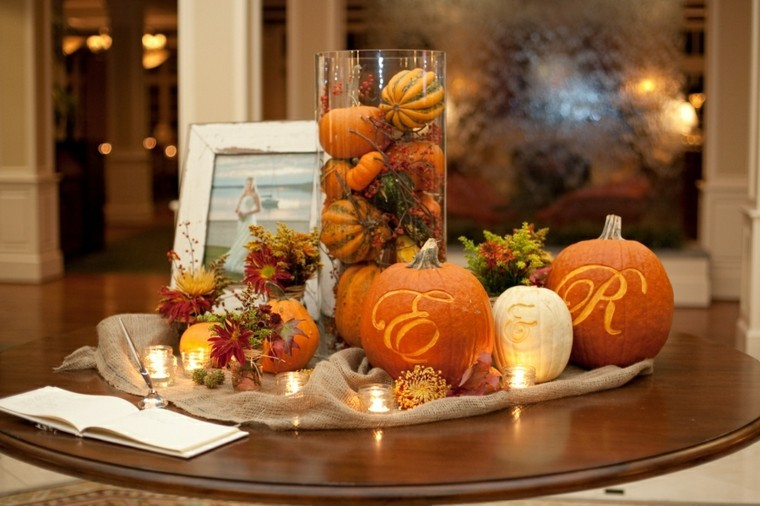 Ideas For Fall Wedding Centerpieces: Paisajes De Otoño Para Decorar La Mesa
