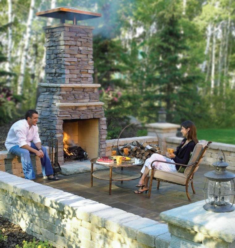 Patio chimenea modern patio outdoor - Diseno de chimeneas ...