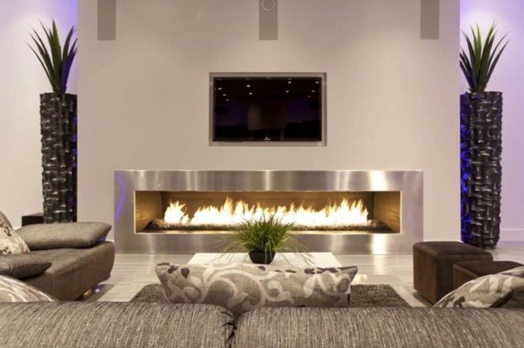 Salones con chimenea - cincuenta diseños acogedores