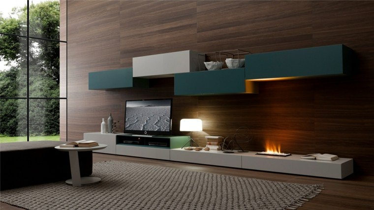 salones con chimenea cincuenta dise os acogedores. Black Bedroom Furniture Sets. Home Design Ideas