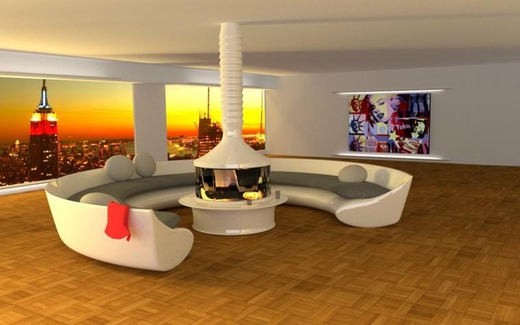 circular salon estilo cuadro futurista