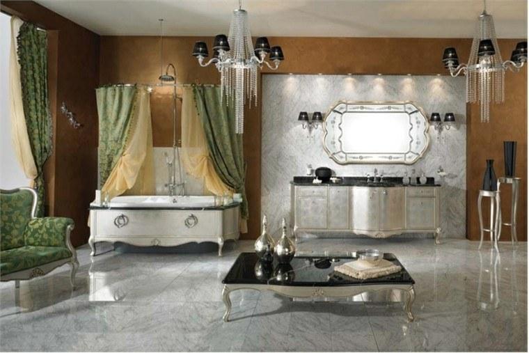 clasico elegante diseño baño cortinas
