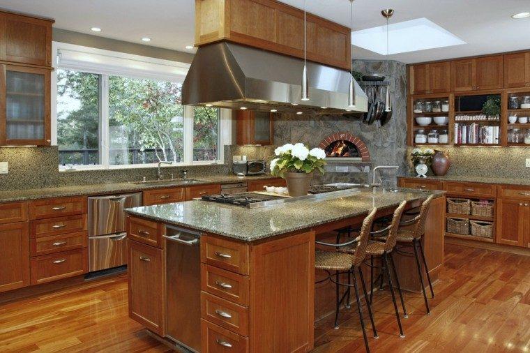 cocina madera diseño moderno