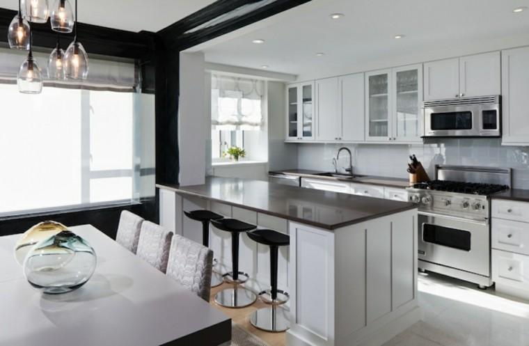 Cocina americana con barra funcionalidad en tu hogar - Tipos encimera cocina ...