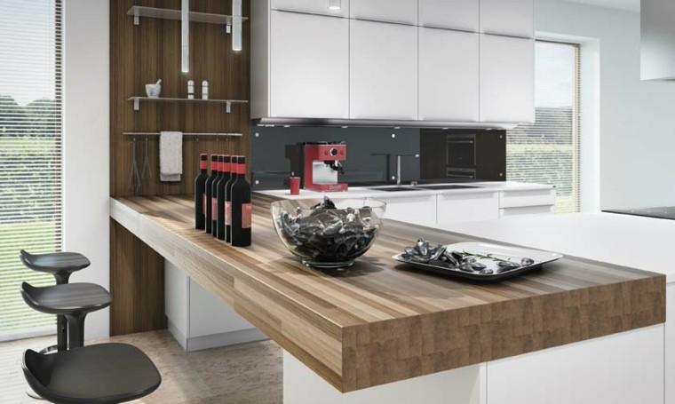 Cocina americana con barra funcionalidad en tu hogar for Sillas cocina negras