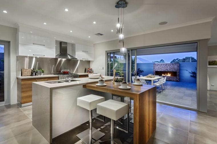 Cocina americana con barra funcionalidad en tu hogar - Sillas barra americana ...