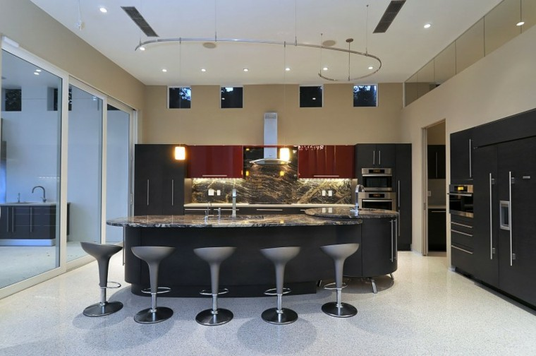 Cocina americana con barra funcionalidad en tu hogar for Cocina estilo americano