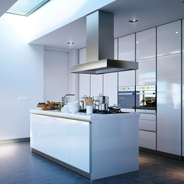 Cocinas modernas con isla 100 ideas impresionantes for Cocinas pequenas con isla