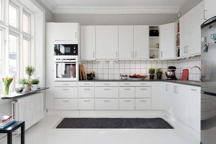 cocina blanca estilo bohemio